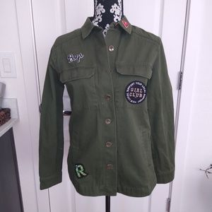 Girls club army green shiet forever 21 size S